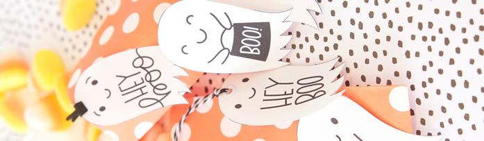 Etiquetas imprimibles para Halloween