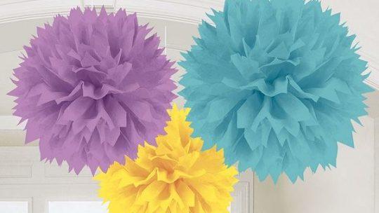 Ideas para decorar una fiesta con pompones de papel